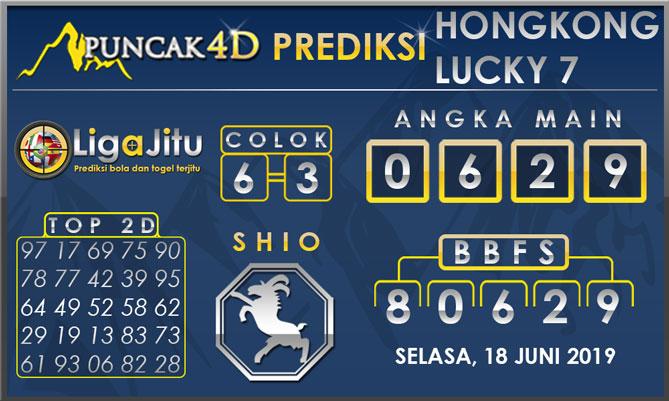PREDIKSI TOGEL HONGKONG LUCKY7 PUNCAK4D 18 JUNI 2019
