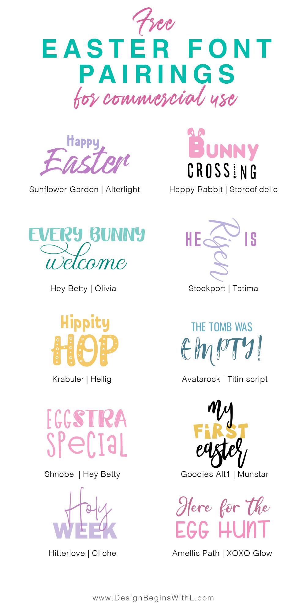 Free Easter Font Pairings