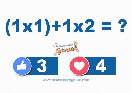 Um desafio com expressões numéricas (1x1)+1x2 = ?