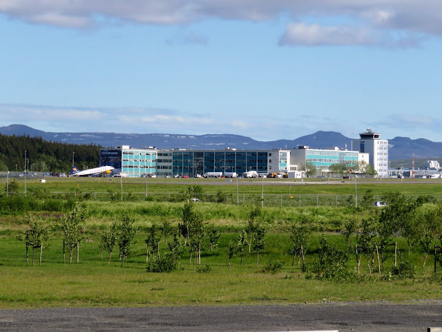 Iceland's Domestic Airport in Reykjavik viewed on a walk in Vatnsmýri