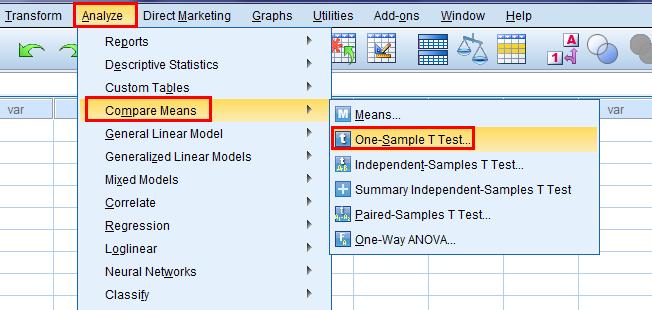pengujian sampel melalui analize spss menu