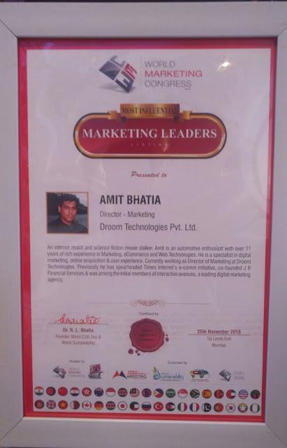 Amit Bhatia Certificate