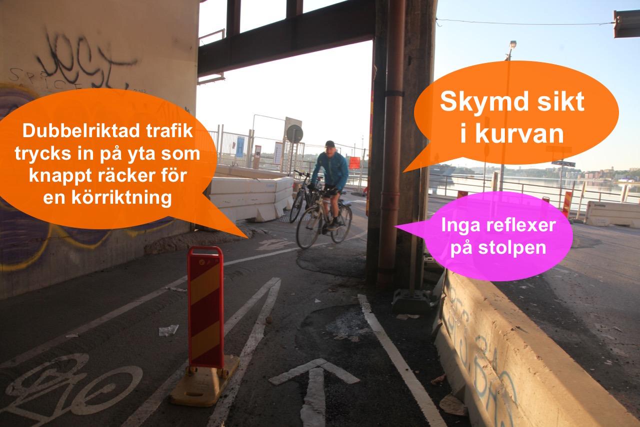 Cyklandeombud Stockholms län: Besiktning Slussenbygget, farligt ...