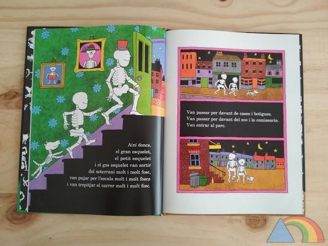 Interior del libro ¡Qué risa de huesos!