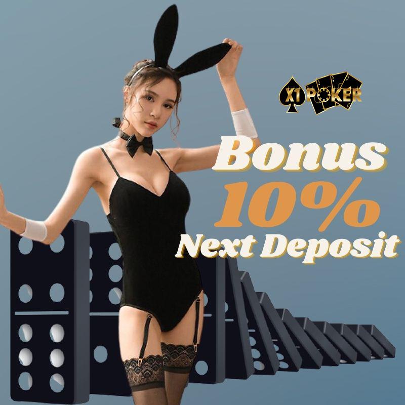 bonus deposit harian terbesar