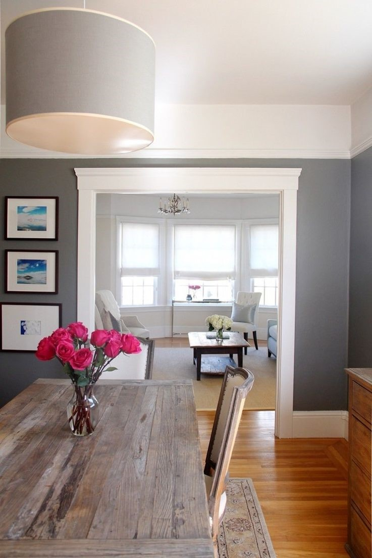 Jessica stout design paint colors for a dining room - Gray living room walls ...