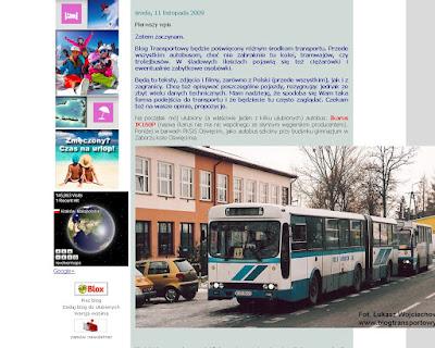 Blog Transportowy - pierwszy wpis