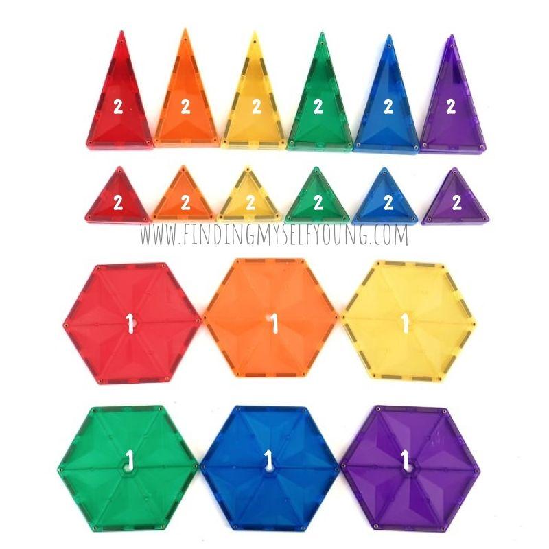 connetix rainbow geometry pack