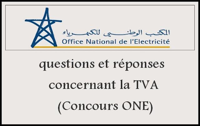 questions et réponses concernant la TVA (Concours ONE)