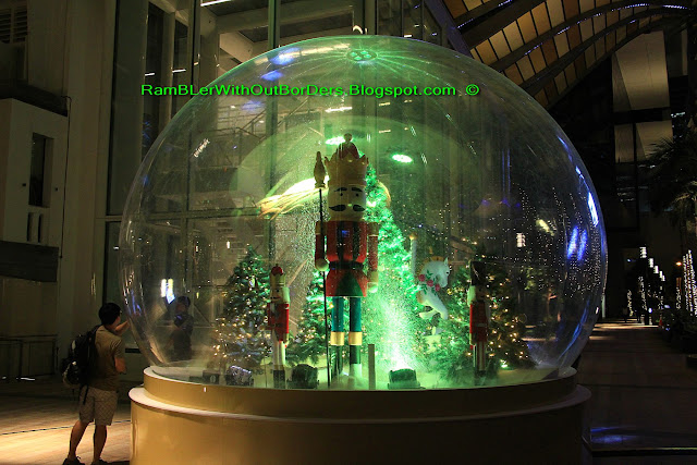 Giant snow globe, City Hall, Singapore