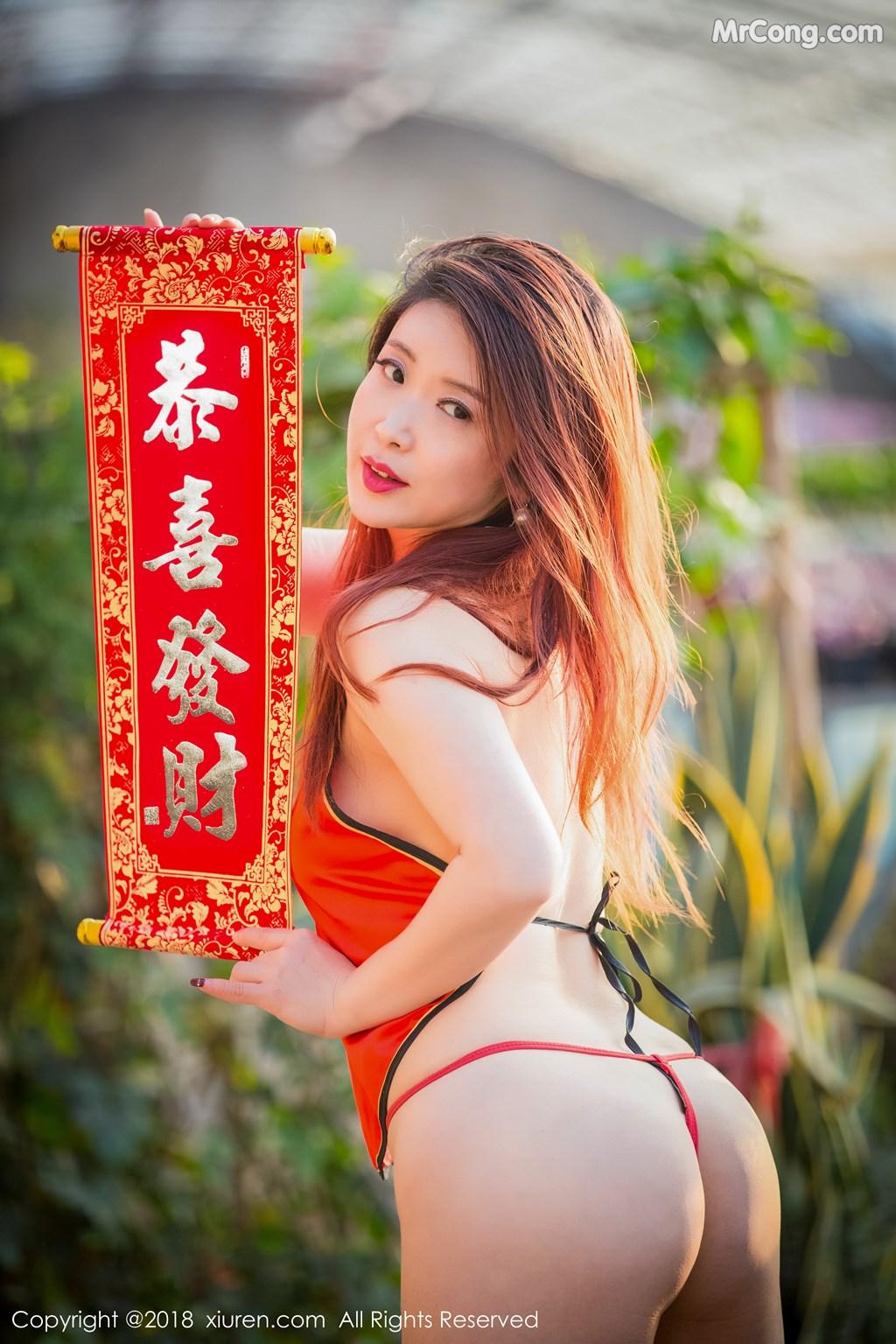Image XIUREN-No.887-Xi-Xi-Bai-Tu-MrCong.com-009 in post XIUREN No.887: Người mẫu Xi Xi Bai Tu (西希白兔) (44 ảnh)