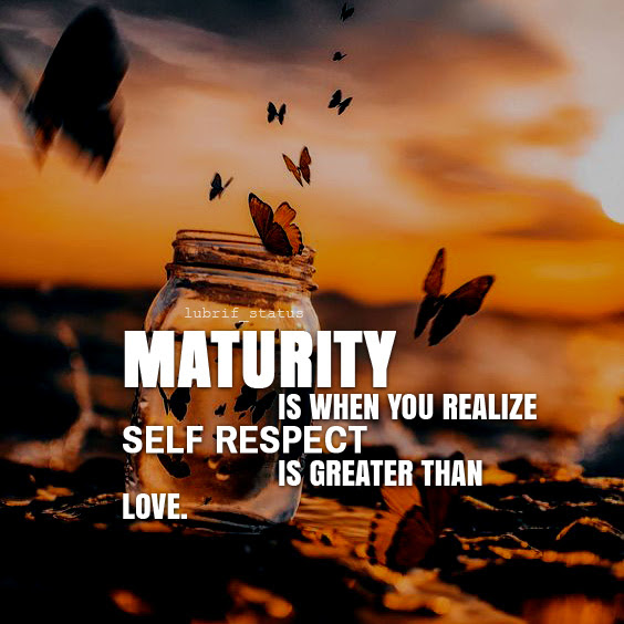 Maturity is when you realize...read best maturity quotes on image