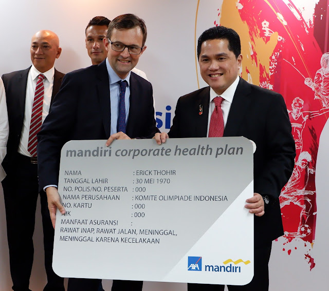 erick thohir menerima mandiri corporate health plan