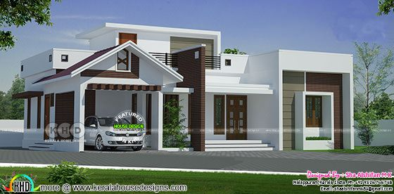 1215 sq-ft 2 bedroom single floor home plan