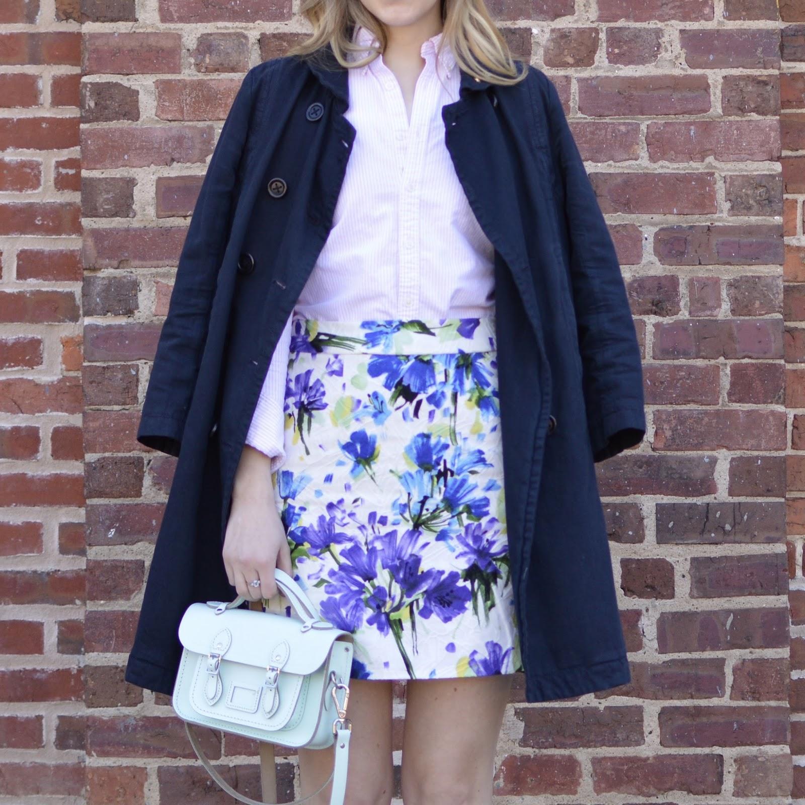 floral mini skirt simplicity 1730 | allie J. | alliemjackson.com