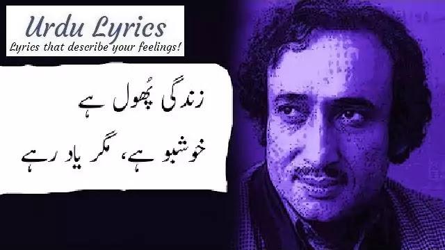 Harf e Ranjish Pe Koi Baat Bhi Ho Sakti Hai | Mohsin Naqvi | Sad Urdu Poetry