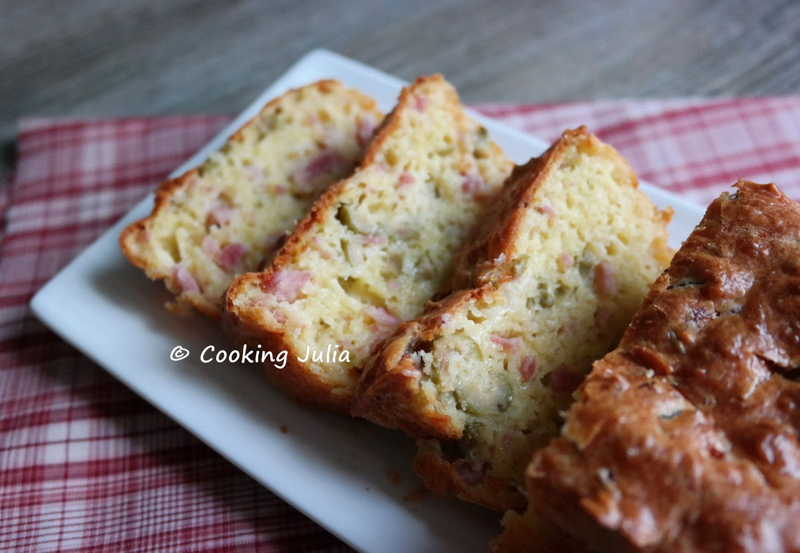 Cake Olives Et Lardons Thermomix