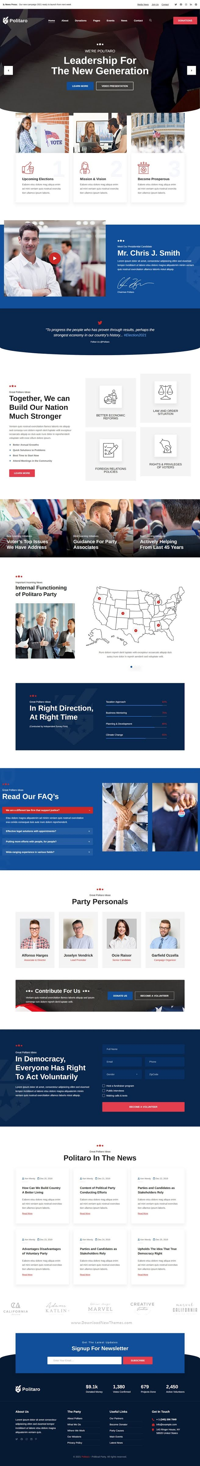 Politaro Political and Government HTML Template