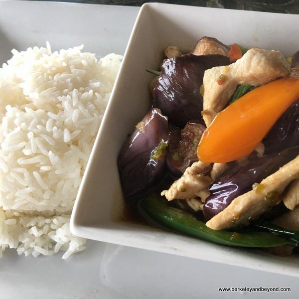 eggplant-chicken dish at Sa Wooei Thai restaurant in El Cerrito, California