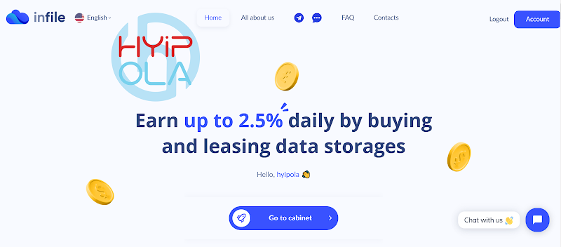 [SCAM] Review InFile - Dự án ưa thích cho nhà đầu tư với lãi up 2.5% hằng ngày