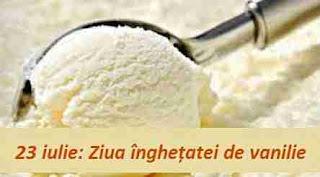 23 iulie: Ziua înghețatei de vanilie