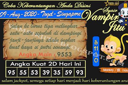 Syair Vampir Jitu Togel SGP Minggu 09 Agustus 2020