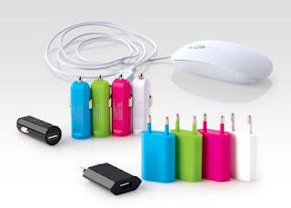 Akcesoria elektroniczne z Biedronki mysz, ładowarka samochodowa, ładowarka sieciowa