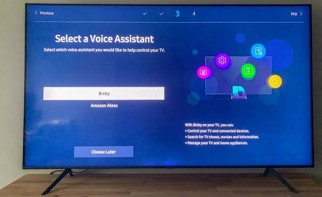 cara setting internet smart tv samsung