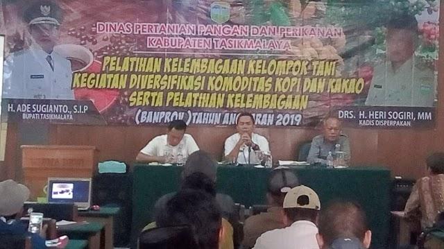 Dinas Pertanian Kab.Tasikmalaya Menggelat Pelatihan Kelembagaan Kelompok Tani, Diversifikasi Komoditas Kopi dan Kakao