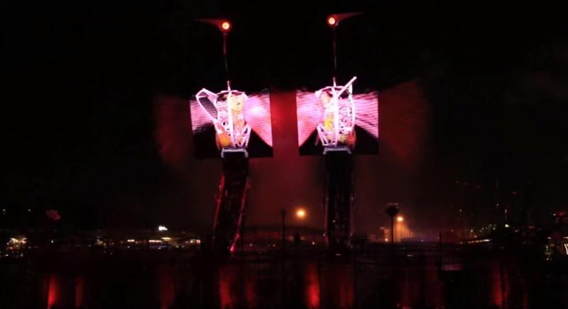 pertunjukan crane dance