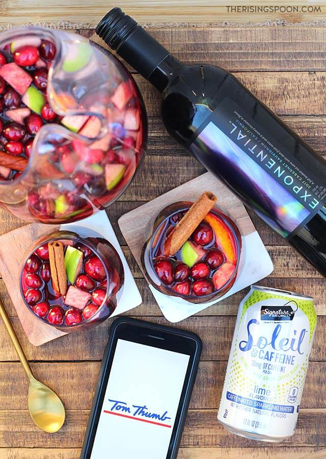 Cranberry Apple Holiday Sangria with Products from Tom Thumb