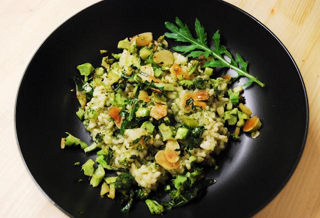 Risotto pesto-brocoli-amandes