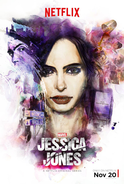 Marvel's Jessica Jones Character One Sheet Television Posters by David Mack - Krysten Ritter as Jessica Jones