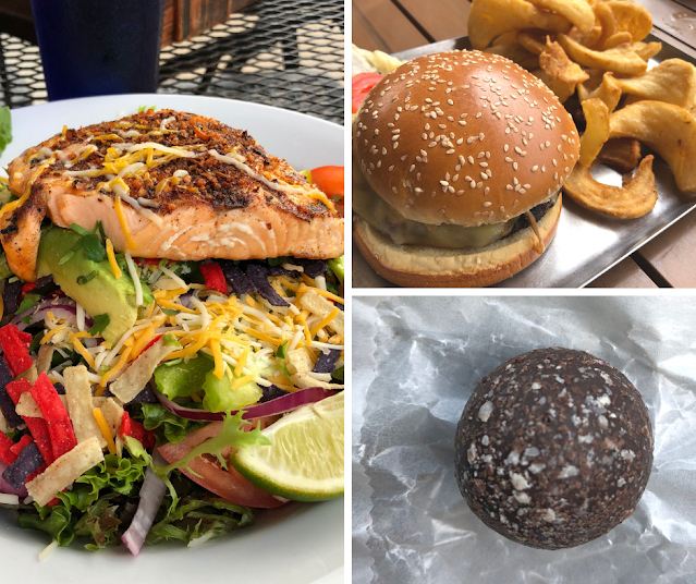 A sampling of tasty tidbits from Janesville including a salmon salad from Whisky Ranch, the Craft Burger from drafthouse and decadent truffle from The Sugar Exchange!