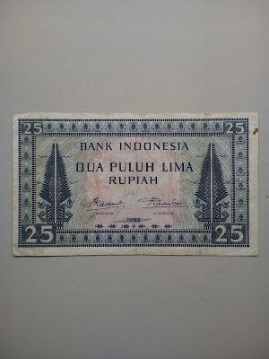 25 rupiah tahun 1952