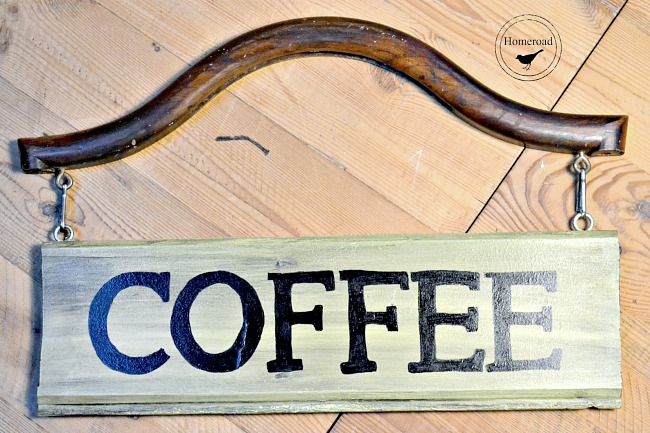 DIY Hanging Coffee Bar Sign