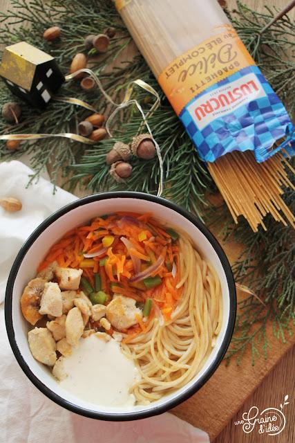 Soupe complète Légumes, Spaghetti, Poulet Degustabox Degusta Box Lustucru
