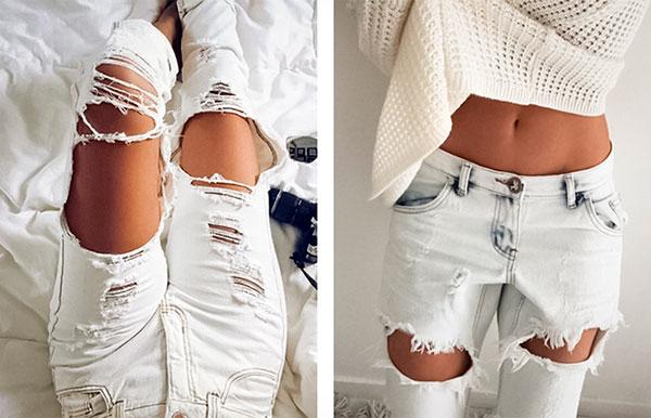 Делаем стильные рваные джинсы