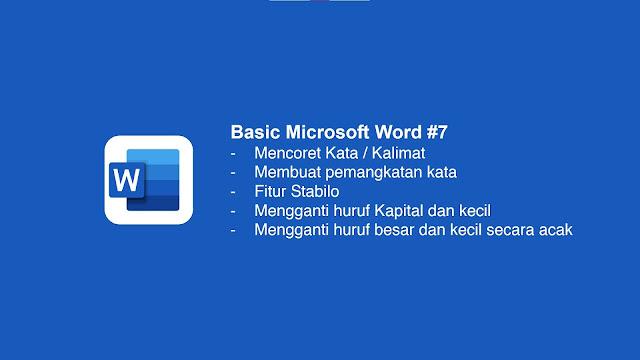 Cara Mencoret Kata Di Microsoft Word