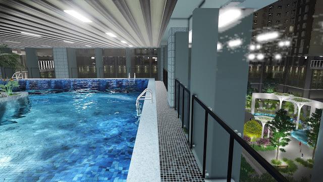 Bể bơi tại tầng 6 Eco-green city