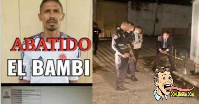 Policía de Carabobo Mató a Bambi en Mariara
