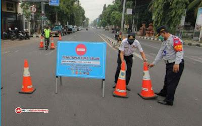 32 Ruas Jalan di Kota Medan Ditutup, Malam Perayaan Hari Raya Idul Fitri Tanggal 13 Mei 2021 Mendatang