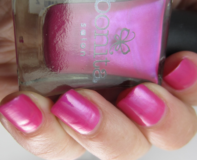 Pink-iridescent-nail-polish