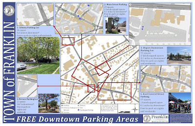 Franklin Downtown Parking Map