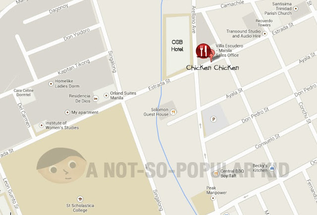 Map for Chicken Chicken Eatery in Estrada Street