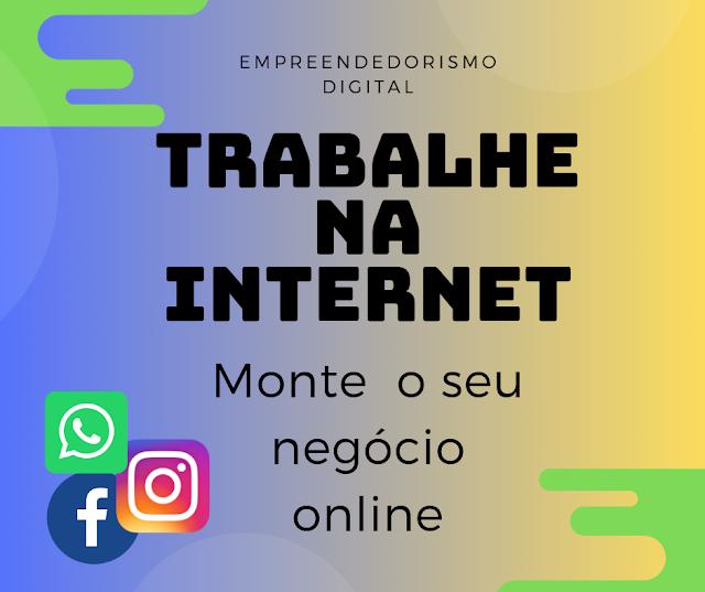 Trabalhe em casa pela internet