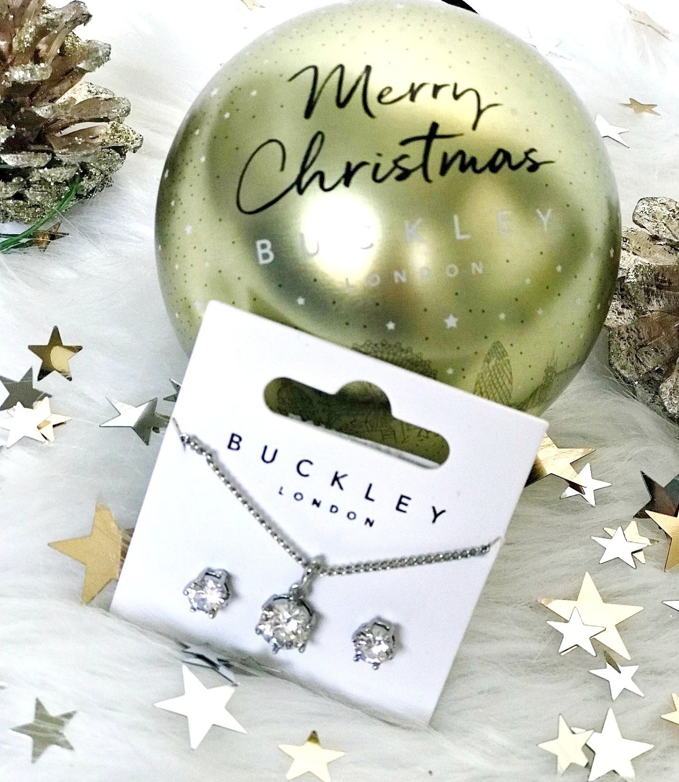 Buckley London Necklace & Earrings Jewellery Set