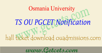 OUCET hall ticket download 2020, ts ou pgcet