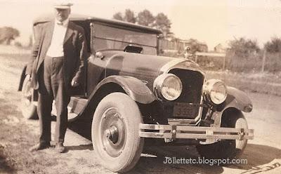 Walter Davis and car Shenandoah, VA before 1934 https://jollettetc.blogspot.com