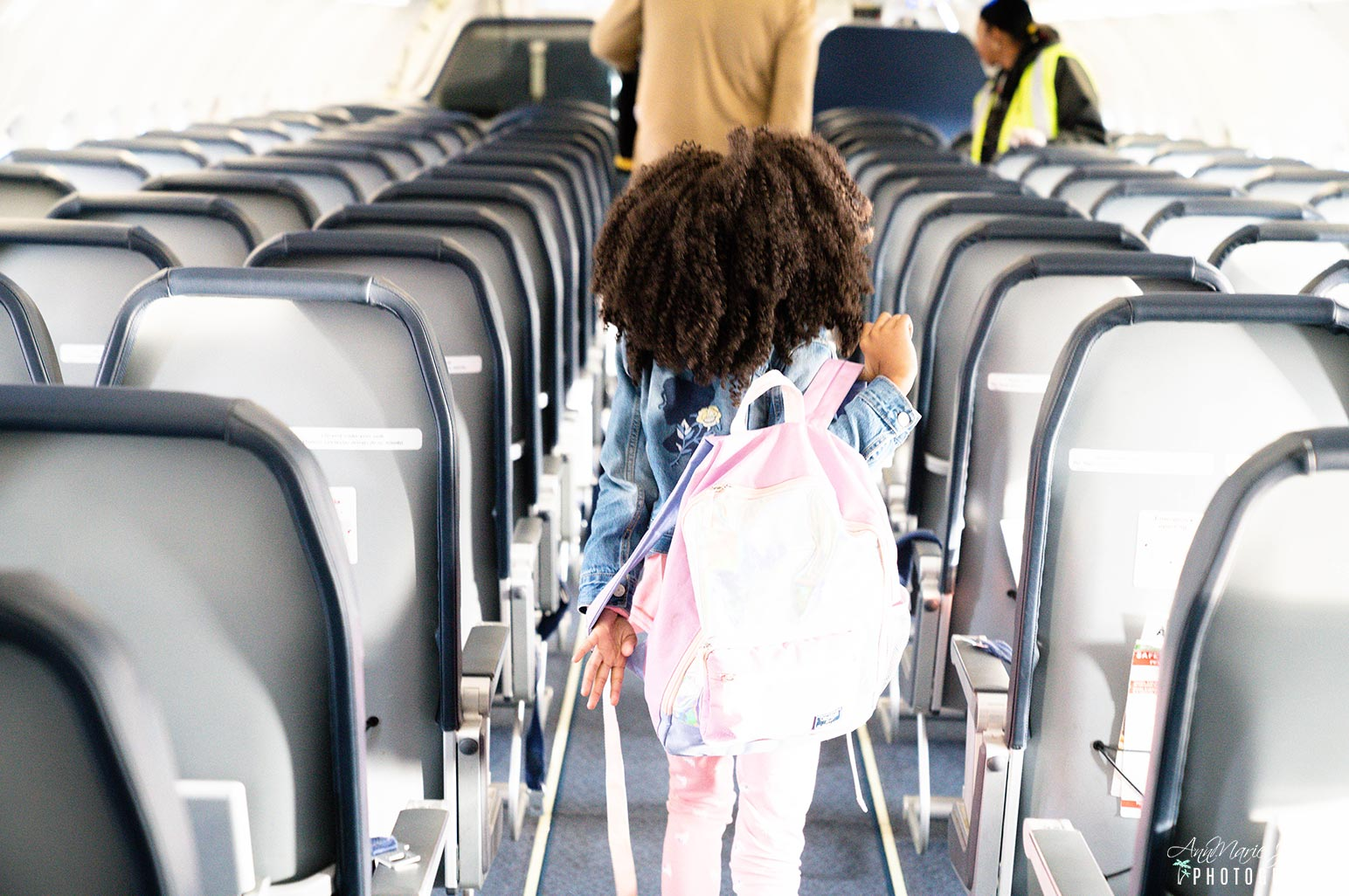 Child Deplaning and Showing Proper Travel Etiquette